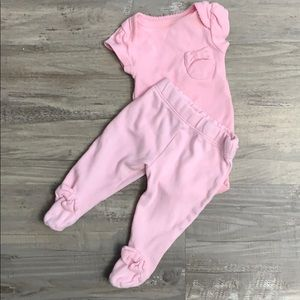 Baby girl PINK set outfit bows newborn